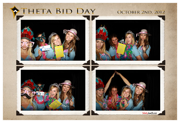 Theta Bid Day's photo booth photos at Bowlmor Cupertino California.