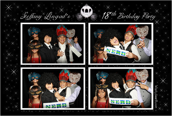 18th birthday photo booth in San Jose