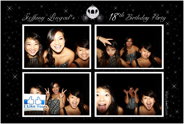 sweet 16th or 18th debut photo booth