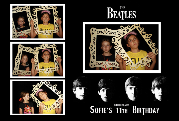 kids being kids with photo booth rental services silicon valley