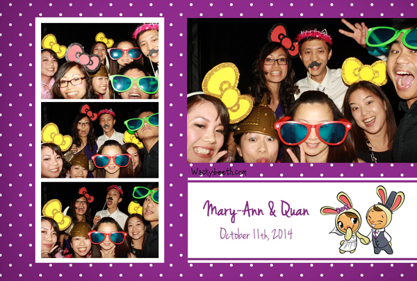 wedding guests enjoying the photo booth san jose