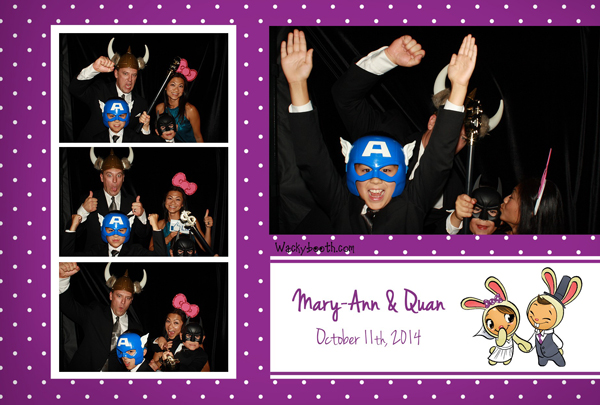 superheroes masks props for your bay area photo booth rental