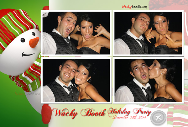 fun holiday photo booth design